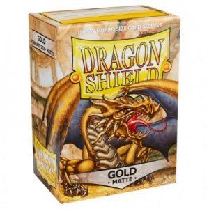 Dragon Shield : 100 Shield Matte Gold
