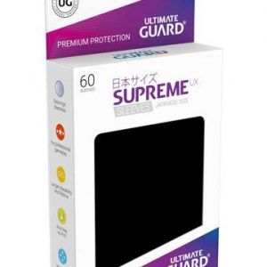 Ultimate Guard Supreme UX Sleeves format japonais Noir