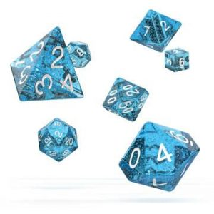 Oakie Doakie Dice dés RPG-Set Speckled – Bleu Clair