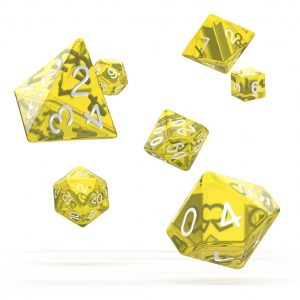 Oakie Doakie Dice dés RPG-Set Translucent – Jaune