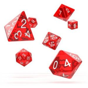 Oakie Doakie Dice dés RPG-Set Translucent – Rouge