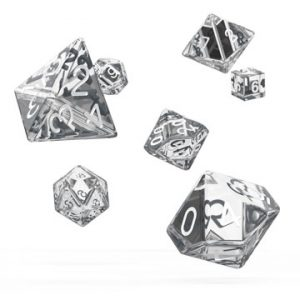 Oakie Doakie Dice dés RPG-Set Translucent – Transparent
